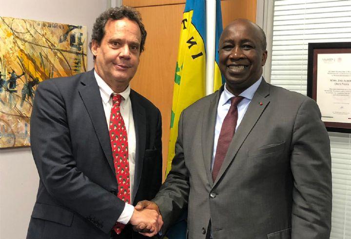 Le représentant permanant de la Côte d'ivoire auprès des organisations internationales de produits de base reçu en audience par le directeur exécutif de l'Organisation Internationale Du Sucre (OIS)