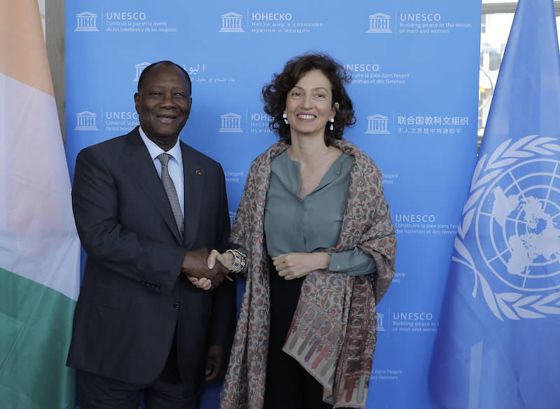 Le Chef de l'Etat a eu un entretien avec la Directrice Générale de l'UNESCO à Paris.